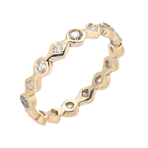 Ever After Yellow 14k Gold Diamond Ring