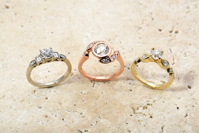 Family Reset Heirloom Diamond Ring | White Gold Rose Gold Yellow Gold Rings