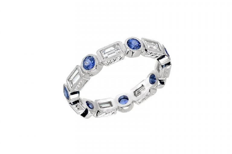 Sapphire ring for customers who value craftsmanship to shop in Los Angeles, California