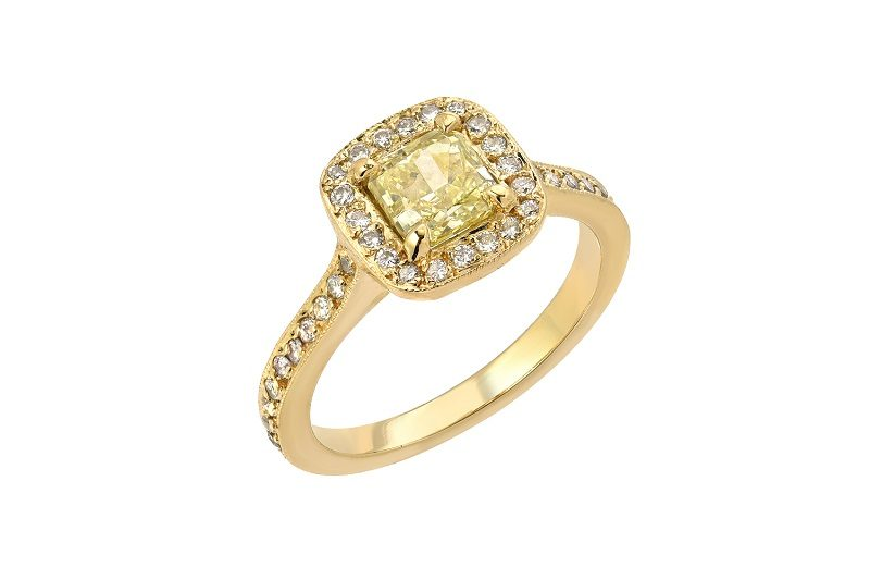 Custom 14K Yellow Gold Diamond Ring for couples who are looking to purchase valuable fine jewelry that brings them joy.