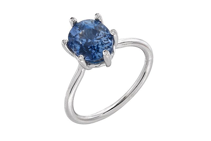 Sapphire ring sold in Liza Shtromberg's jewelry store in Los Angeles, California