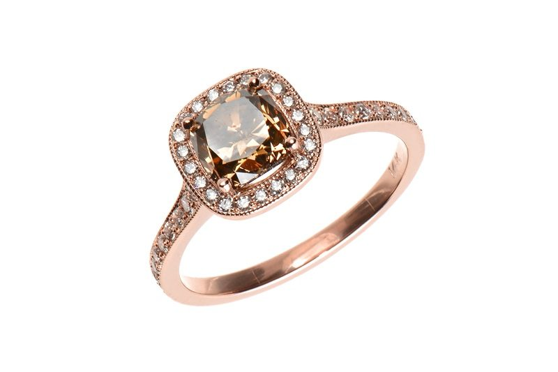 Rose Gold-Chocolate Diamond-Pave Diamond -ss